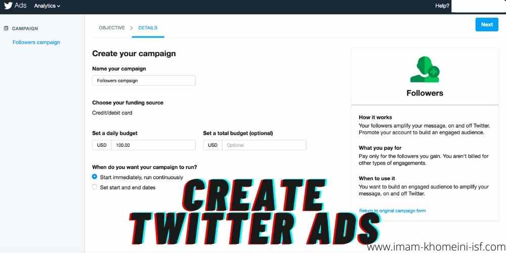 Create Twitter ads
