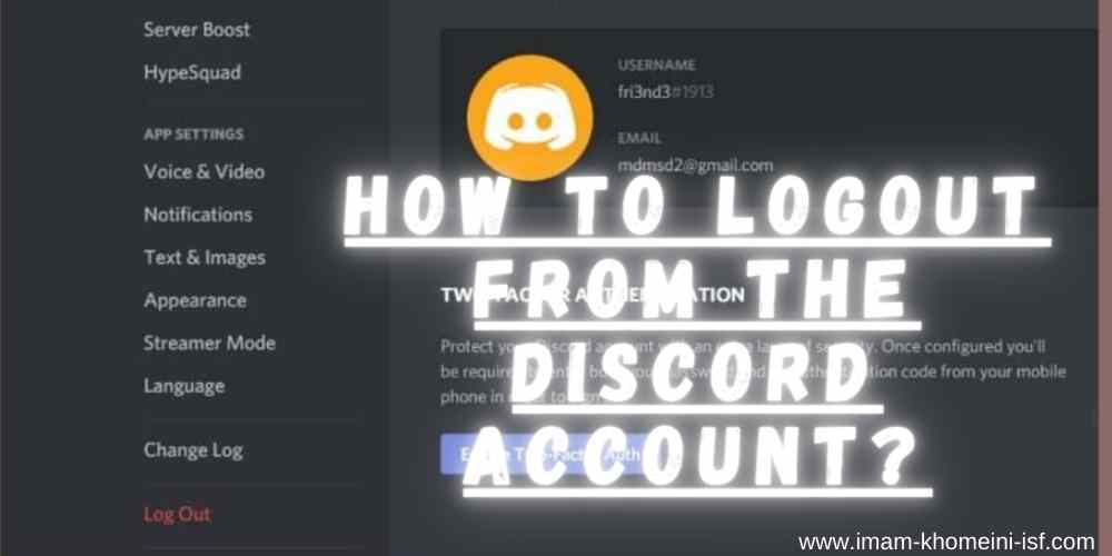 How to logout from the Discord account