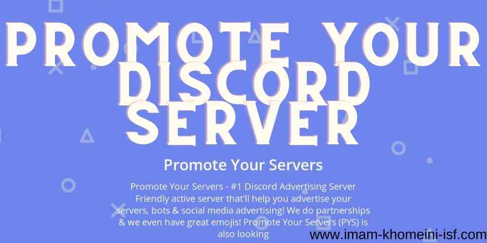 Promote your discord server