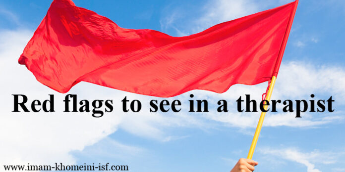 Red flags to see in a therapist