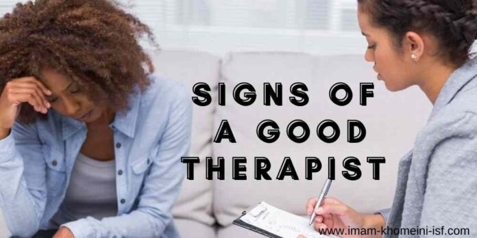 Signs of a good therapist